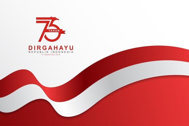 Modello indonesiano sfondo del giorno dell'indipendenza
