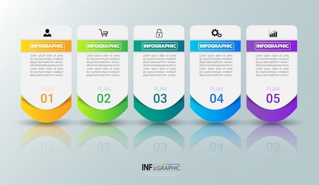 Modello infografica colorato