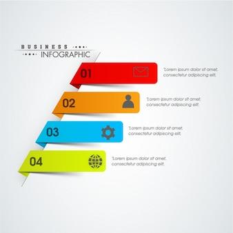 Modello infografica completa con striscioni 3d
