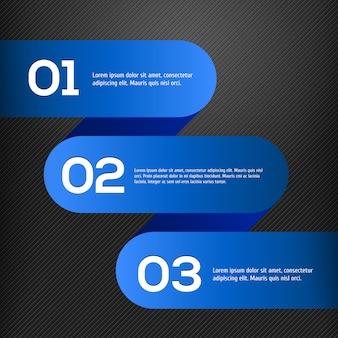 Modello infographic 3d blu luminoso di vettore