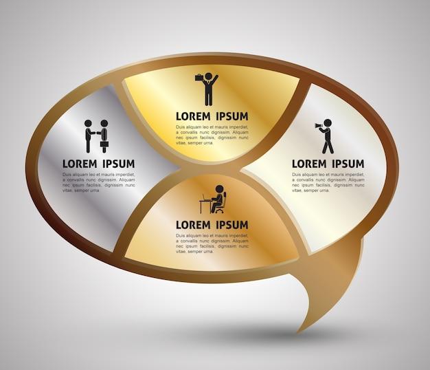Modello infographic di concetto di affari con le icone