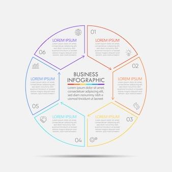 Modello infographic di presentazione del circolo