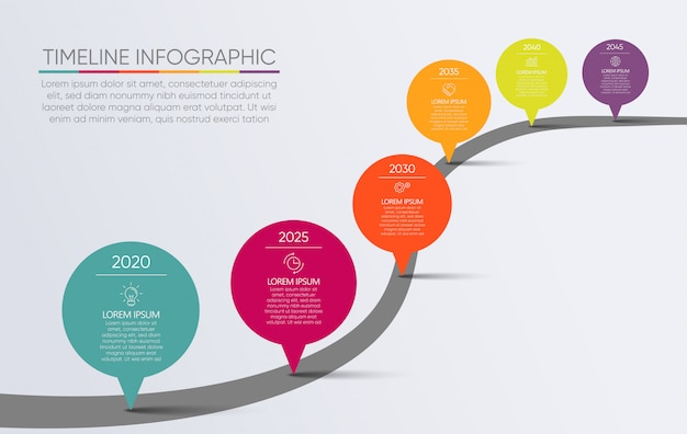 Modello infographic di presentazione del programma di strada di affari