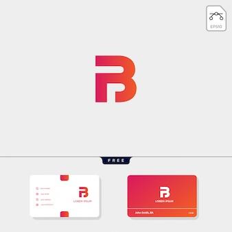 Modello iniziale di logo b, bb, 13, 3 o eb, premium premium, biglietto da visita