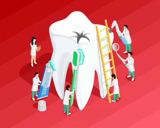 Modello isometrico dentale medico