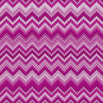 Modello lavorato a maglia tradizionale fair isle astratto chevron. ornamento senza soluzione di continuità per il design del maglione per maglieria