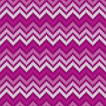 Modello lavorato a maglia tradizionale fair isle astratto chevron. ornamento senza soluzione di continuità per il design del maglione