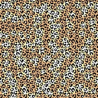Modello leopardo senza soluzione di continuità. vettore.