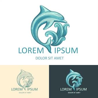 Modello logo dolphin