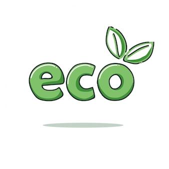 Modello logo eco