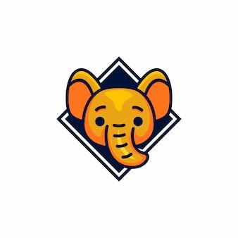 Modello logo elefante