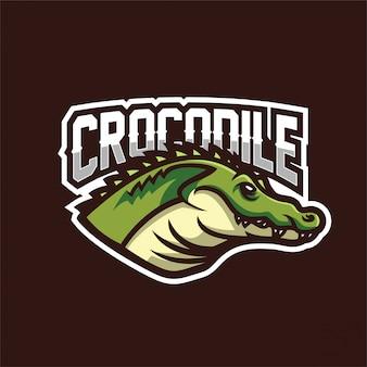 Modello logo mascotte gioco coccodrillo alligatore esport