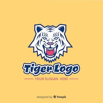 Modello logo ruggente della tigre