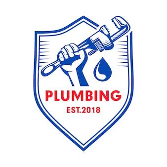 Modello logo servizio idraulico