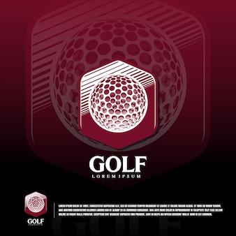 Modello logo squadra sport golf