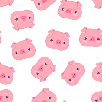 Modello maiale carino senza soluzione di continuità