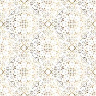 Modello mandala decorativo dorato