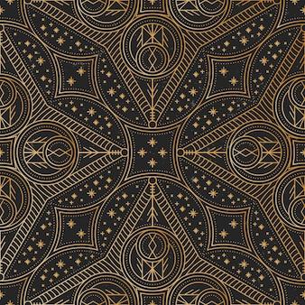 Modello mandala oro di lusso