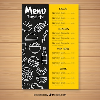 Modello menu menu fast food