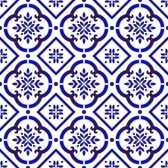 Modello messicano di piastrelle di ceramica talavera