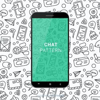Modello mobile di chat disegnati a mano