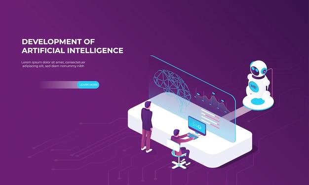 Modello moderno con creazione di intelligenza artificiale