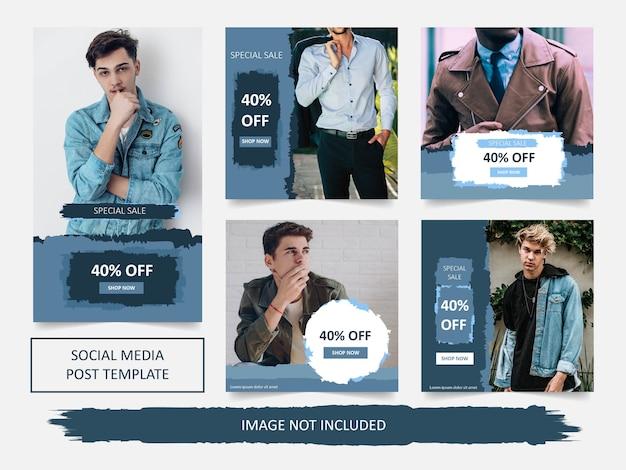Modello moderno dell'insegna di vendita di modo di social media
