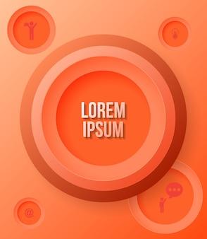 Modello moderno di affari di cerchio arancione