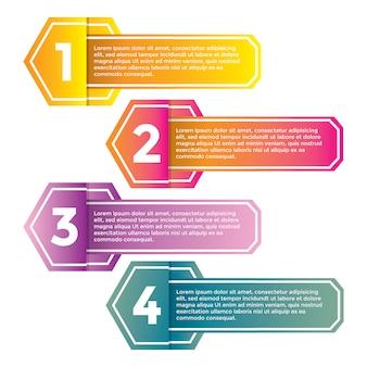 Modello moderno di banner e infografica sfumatura