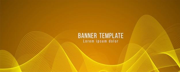 Modello moderno di banner luminoso elegante astratto