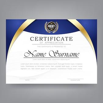 Modello moderno di certificato di apprezzamento