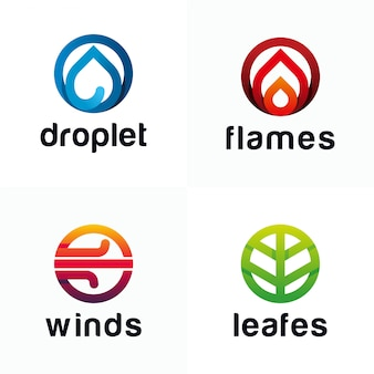 Modello moderno di logo a quattro elementi