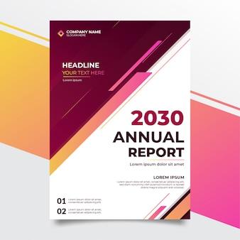 Modello moderno di progettazione del rapporto annuale di affari eleganti