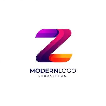 Modello moderno di progettazione di logo della lettera z.