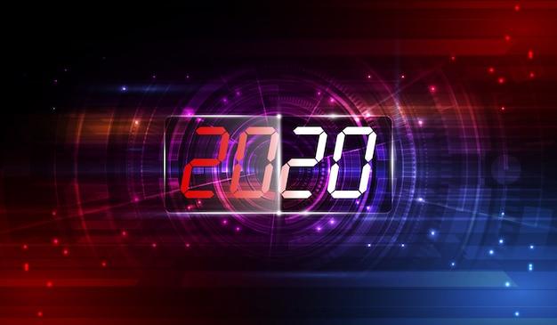Modello moderno di tecnologia futuristica per il 2020.