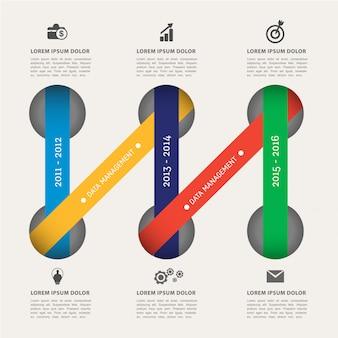 Modello moderno elemento infografica