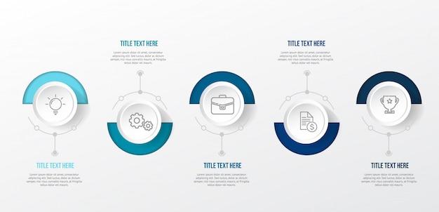 Modello moderno infografica blu