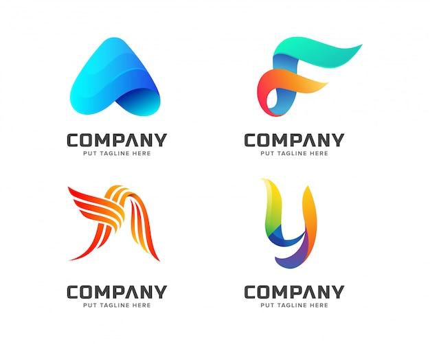 Modello moderno logo colorato
