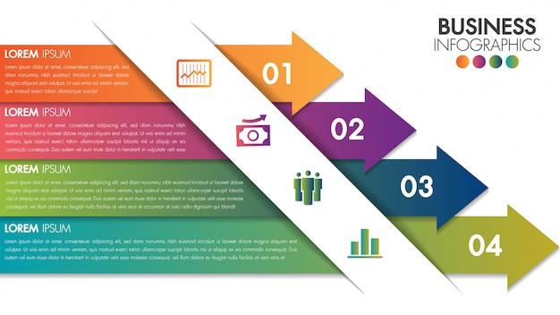Modello moderno minimal design infografica.