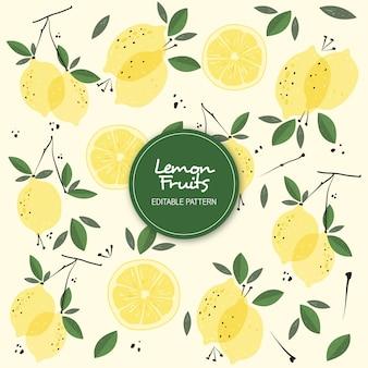 Modello modificabile di frutti di limone