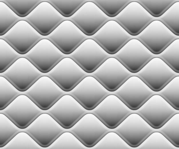 Modello morbido senza soluzione di continuità con le onde in bianco. vista ravvicinata. e include anche