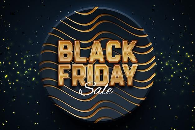 Modello nero dell'insegna di promozione di vendita di venerdì su fondo scuro.