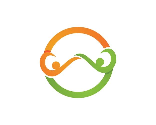 Modello nero delle icone di simboli di logo dell'uomo di smoking