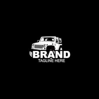 Modello nero e logo auto automobilistica