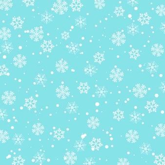 Modello neve. illustrazione vettoriale neve che cade.