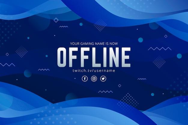 Modello offline astratto della bandiera di twitch