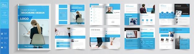 Modello opuscolo aziendale o aziendale