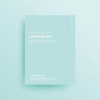 Modello opuscolo gradiente di colore