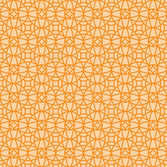 Modello ornamentale di stile arabo lineare vintage arancia