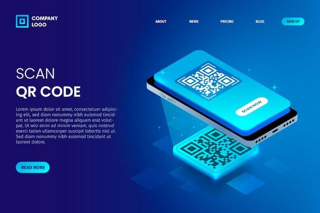 Modello pagina di destinazione verifica codice qr